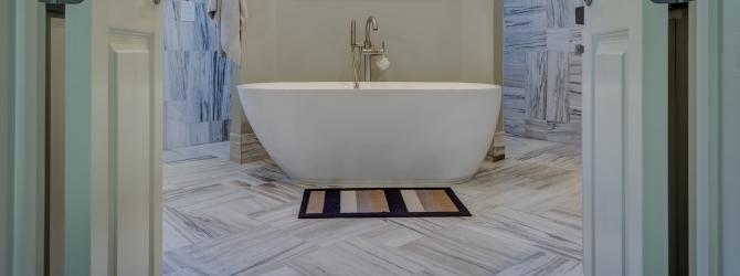 выравнивание пола в ванной